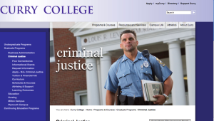 Curry's Criminal Justice Department's master's of arts program has proven to be a great success after just two years of existence.