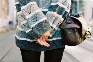 Oversized sweaters are in this fall season.
