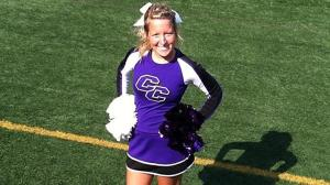 Junior Evan Bard was a nursing major and member of the Curry College cheerleading team. // COURTESY PHOTO
