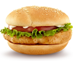 The McDonald's grilled chicken sandwich has just 350 calories. Order it with no bun and mayo, and you've knocked that number down to 100.
