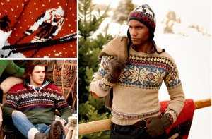 Colorful sweaters, like these by Ralph Lauren, can make any guy both warm and stylish.