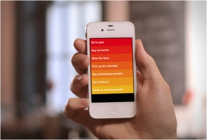 """The Clear app allows users to create and organize all sorts of """"to-do"""" lists."""