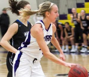 Senior Kylie Beltz scored a game-high 21 points. // PHOTO COURTESY OF CURRY ATHLETICS