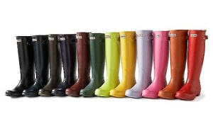 Hunters boots come in plenty of colors, and bring a little style to the dull days of winter and early spring.