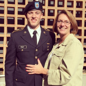 Freshman Shane Tracy, with his mom, Tracy. // COURTESY PHOTO
