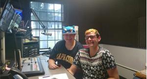MOLLY FANIKOS AND JAMES BONNEAU. // PHOTO COURTESY OF WMLN-FM.