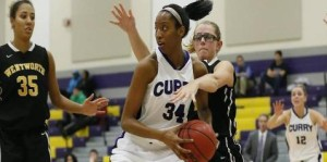Senior Co-Captain Shannon Griffith Finished with 15 Points in the Win // Photo Courtesy of Curry College Athletic Department