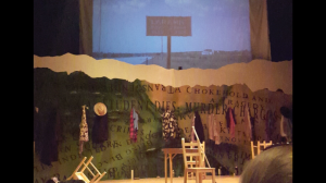 The set for the Curry theater production of The Laramie Project // PHOTO BY KELLIE ANN MAXWELL