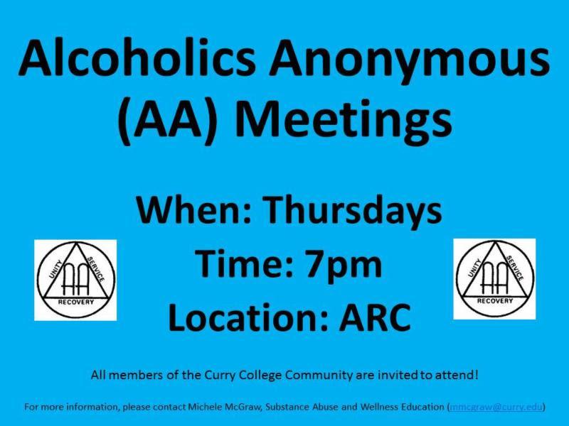 AA Meetings onCampus